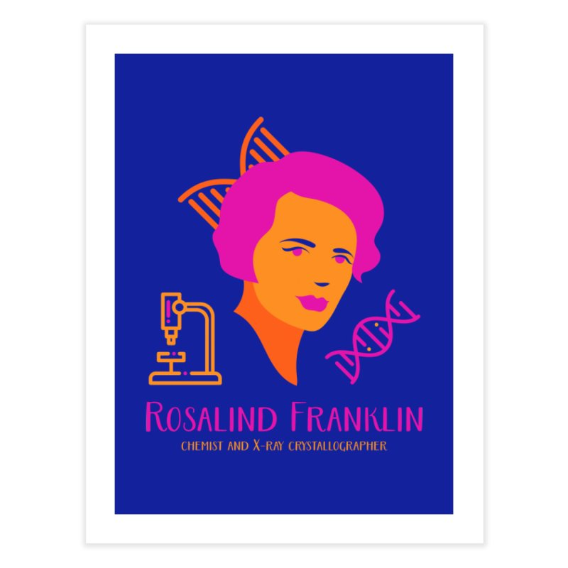 Rosalind Franklin Home Bath Mat by Jana Artist Shop