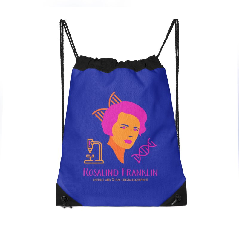 Rosalind Franklin Accessories Drawstring Bag Bag by Jana Artist Shop