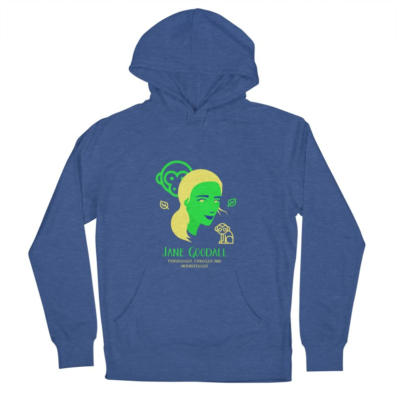 Jane Goodall Men's French Terry Pullover Hoody by Jana Artist Shop