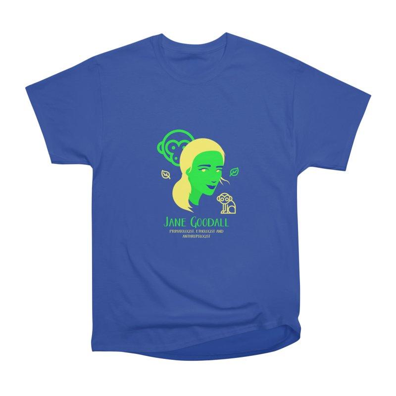 Jane Goodall Men's Heavyweight T-Shirt by Jana Artist Shop