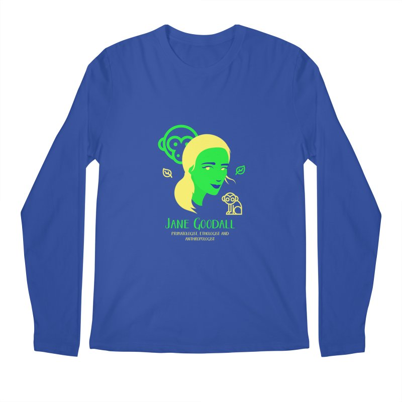 Jane Goodall Men's Regular Longsleeve T-Shirt by Jana Artist Shop