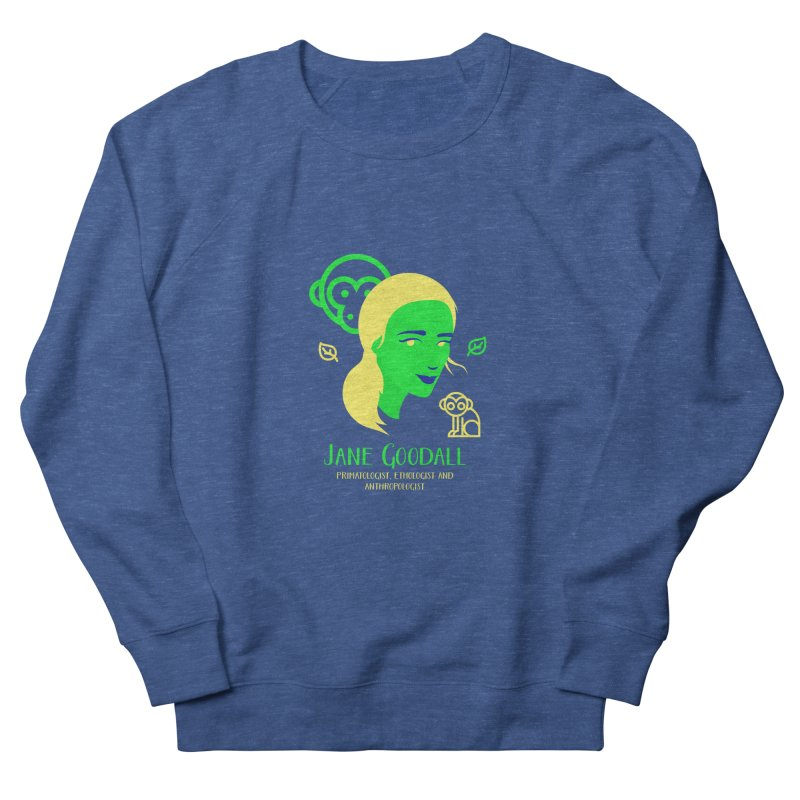 Jane Goodall Women's French Terry Sweatshirt by Jana Artist Shop