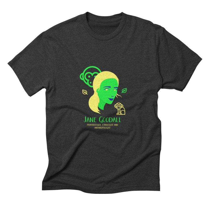 Jane Goodall Men's Triblend T-Shirt by Jana Artist Shop
