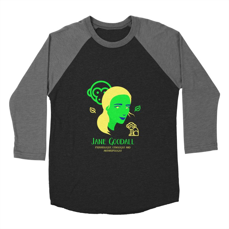 Jane Goodall Men's Baseball Triblend Longsleeve T-Shirt by Jana Artist Shop