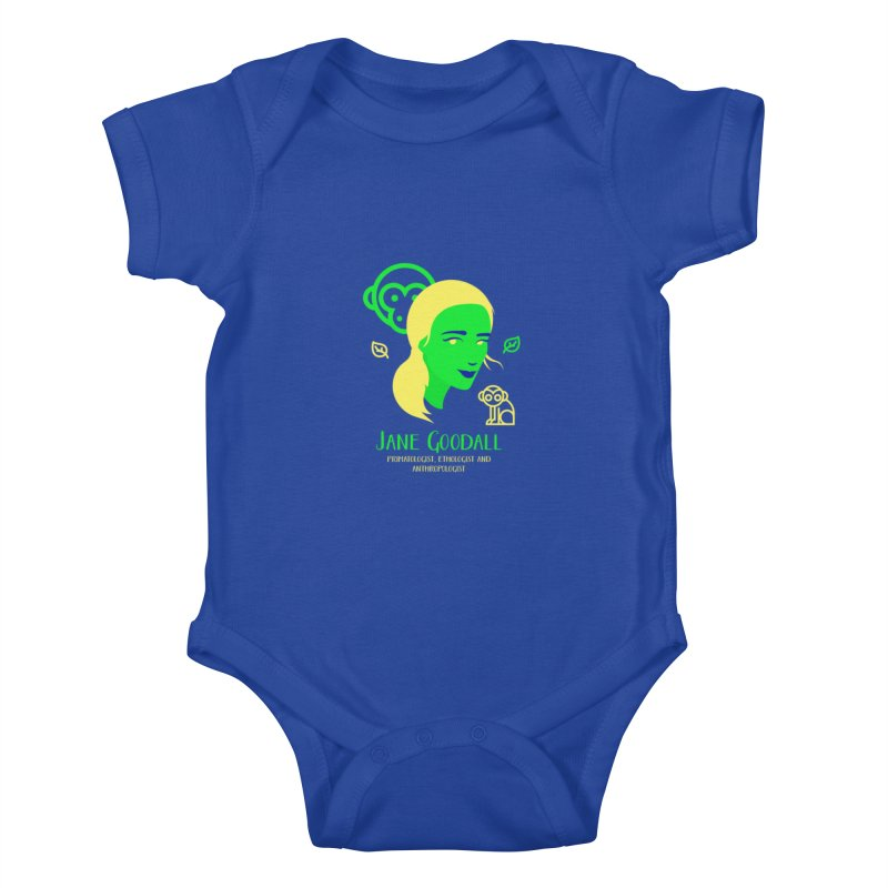 Jane Goodall Kids Baby Bodysuit by Jana Artist Shop