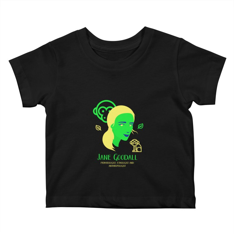 Jane Goodall Kids Baby T-Shirt by Jana Artist Shop