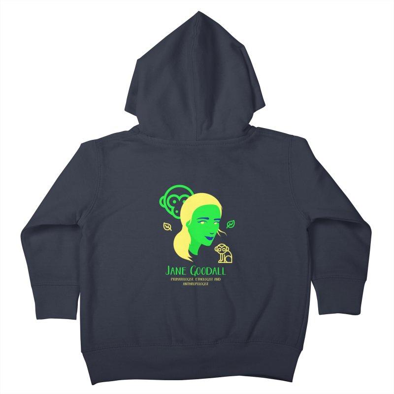 Jane Goodall Kids Toddler Zip-Up Hoody by Jana Artist Shop