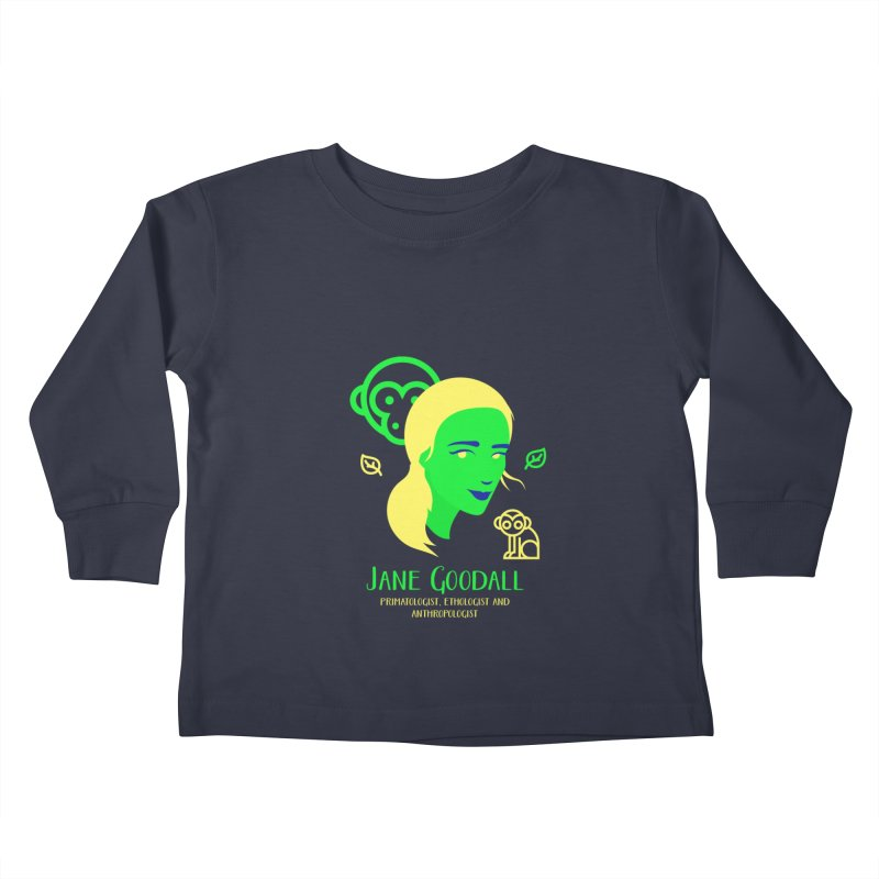 Jane Goodall Kids Toddler Longsleeve T-Shirt by Jana Artist Shop