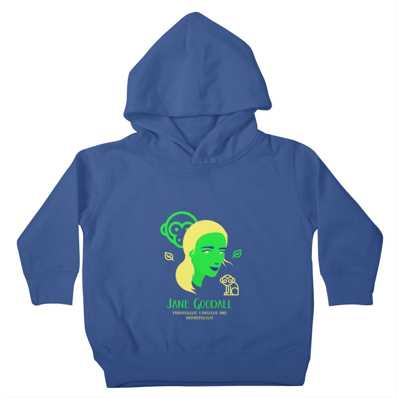 Jane Goodall Kids Toddler Pullover Hoody by Jana Artist Shop