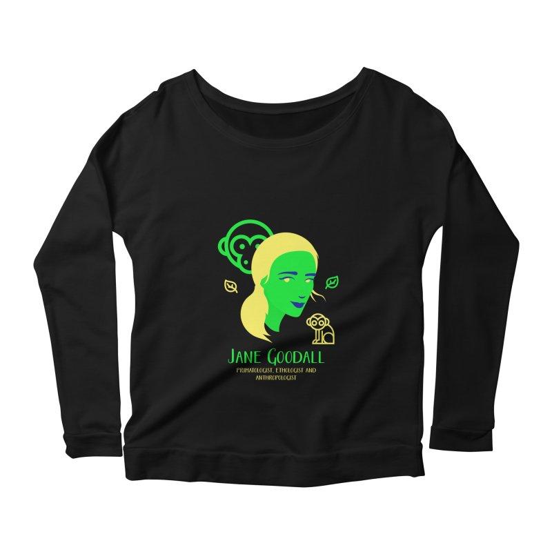 Jane Goodall Women's Scoop Neck Longsleeve T-Shirt by Jana Artist Shop