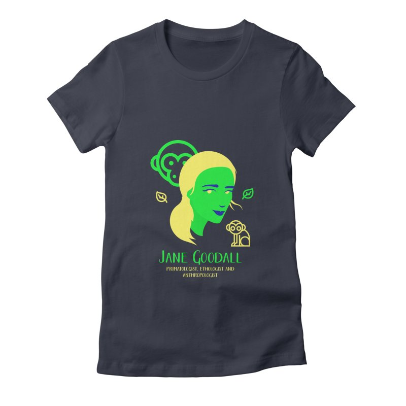 Jane Goodall Women's Fitted T-Shirt by Jana Artist Shop
