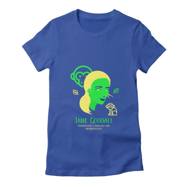 Jane Goodall Women's Fitted T-Shirt by Jana Artist Shop
