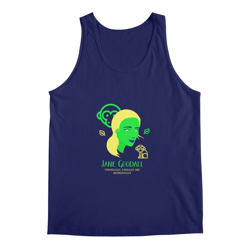 Jane Goodall Men's Tank by Jana Artist Shop