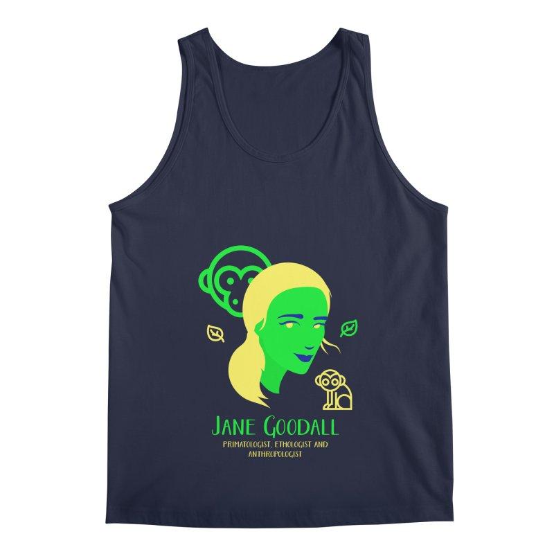 Jane Goodall Men's Regular Tank by Jana Artist Shop