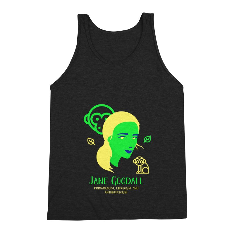 Jane Goodall Men's Triblend Tank by Jana Artist Shop