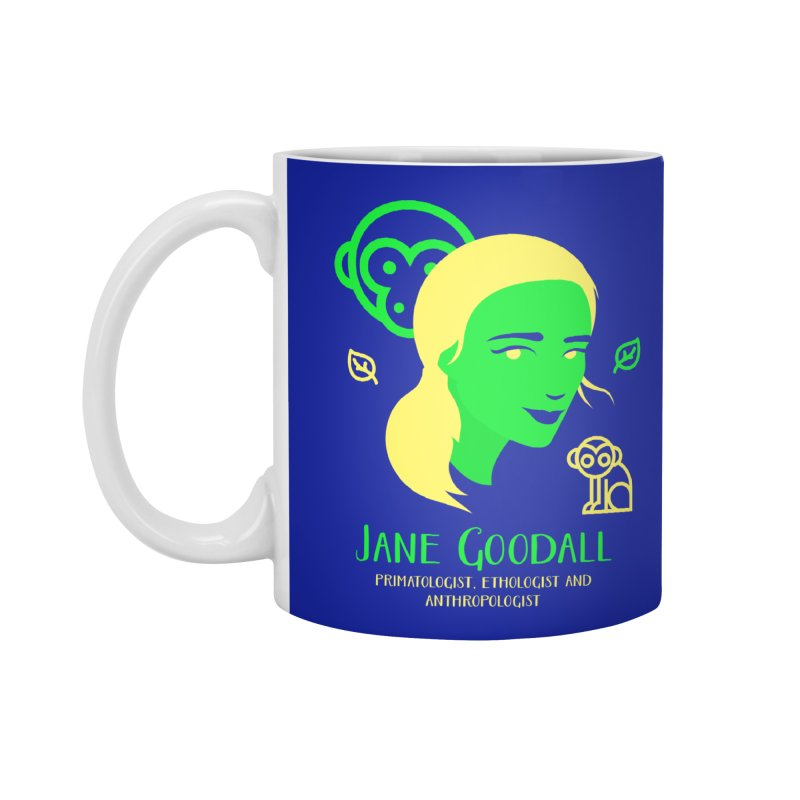 Jane Goodall Accessories Standard Mug by Jana Artist Shop