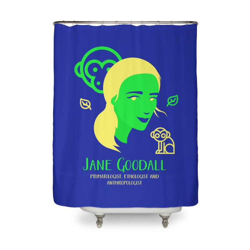 Jane Goodall Home Shower Curtain by Jana Artist Shop