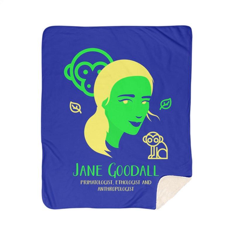 Jane Goodall Home Sherpa Blanket Blanket by Jana Artist Shop