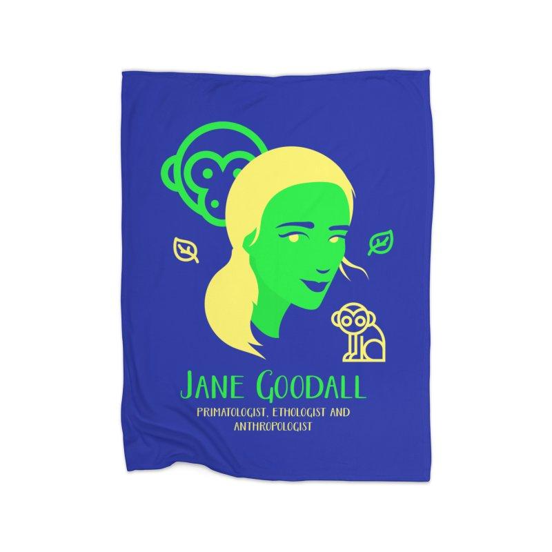 Jane Goodall Home Blanket by Jana Artist Shop