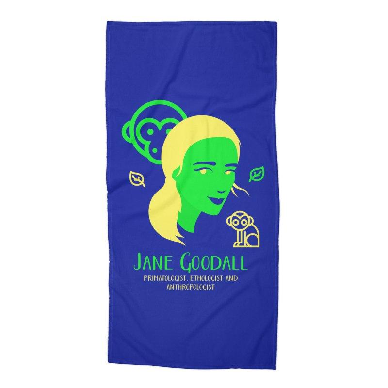 Jane Goodall Accessories Beach Towel by Jana Artist Shop