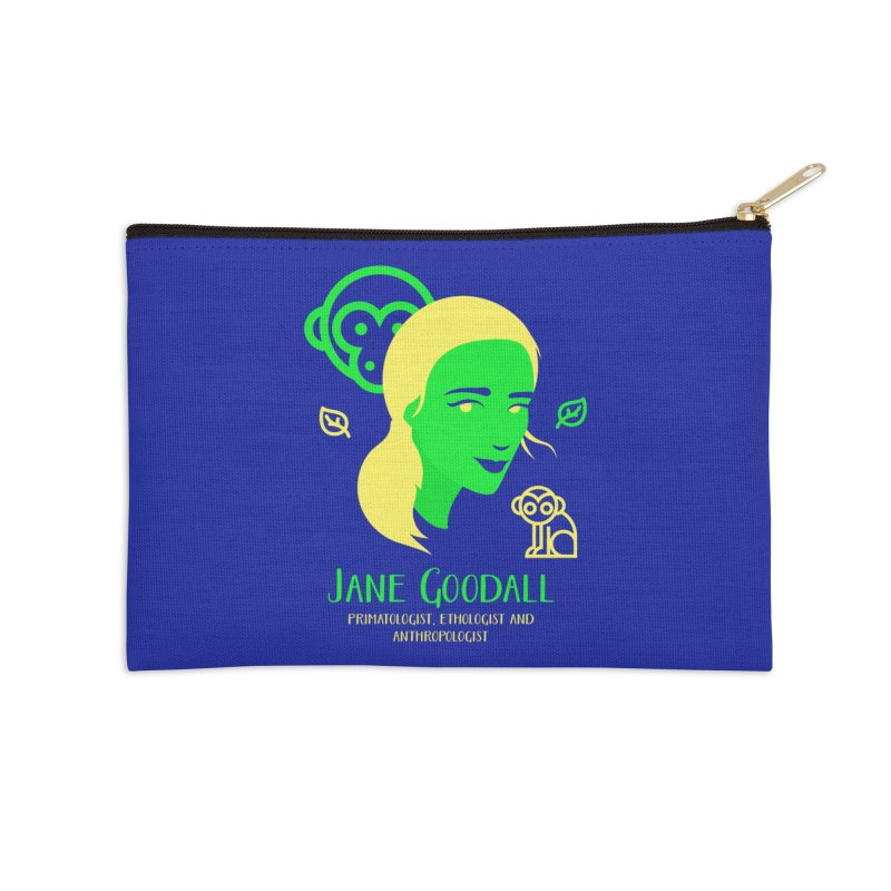 Jane Goodall Accessories Zip Pouch by Jana Artist Shop