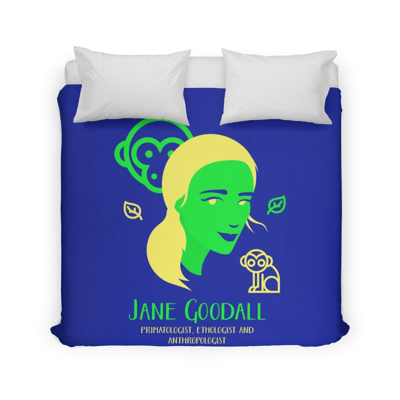 Jane Goodall Home Duvet by Jana Artist Shop