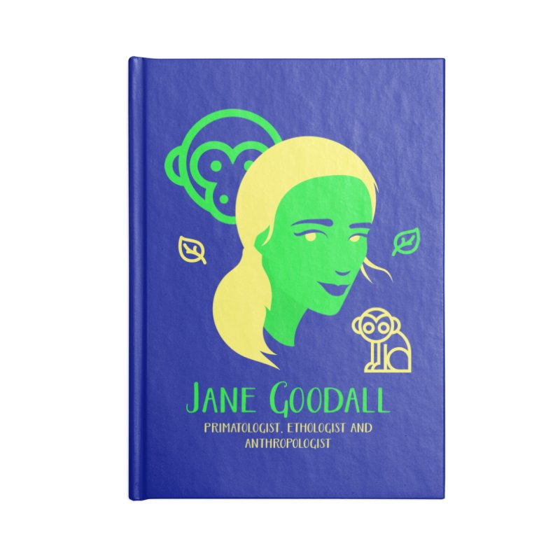Jane Goodall Accessories Notebook by Jana Artist Shop