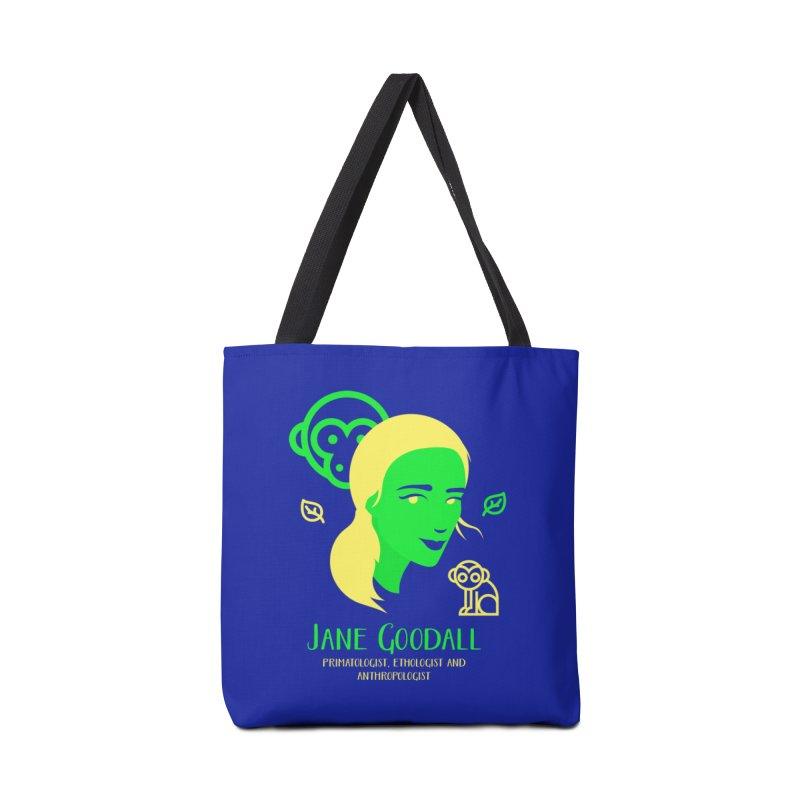 Jane Goodall Accessories Tote Bag Bag by Jana Artist Shop