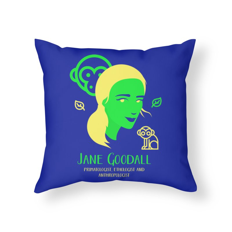 Jane Goodall Home Throw Pillow by Jana Artist Shop