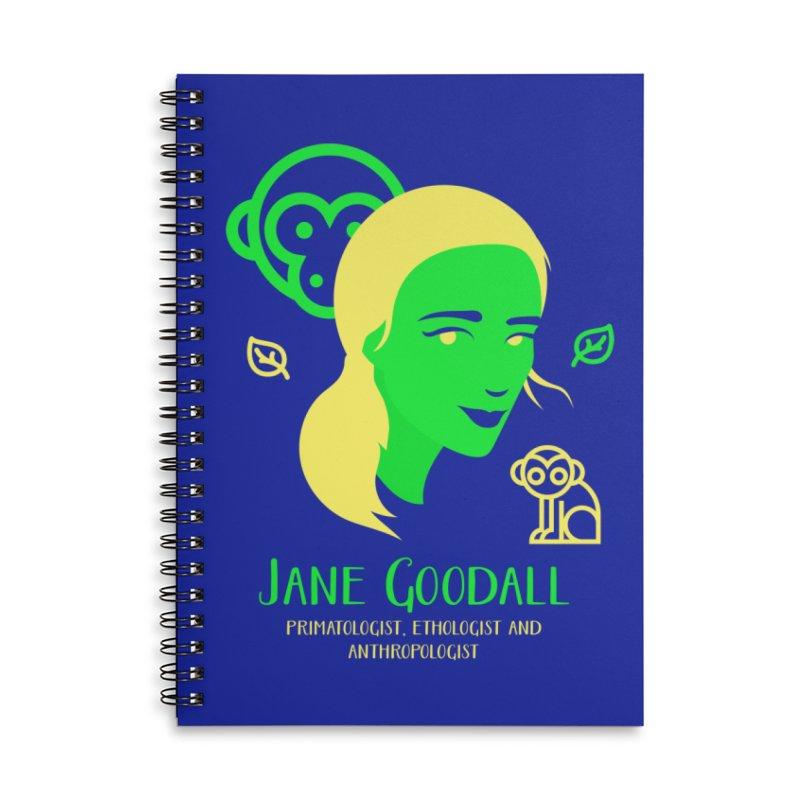 Jane Goodall Accessories Lined Spiral Notebook by Jana Artist Shop