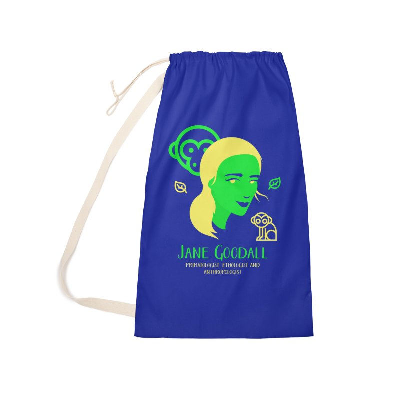 Jane Goodall Accessories Laundry Bag Bag by Jana Artist Shop