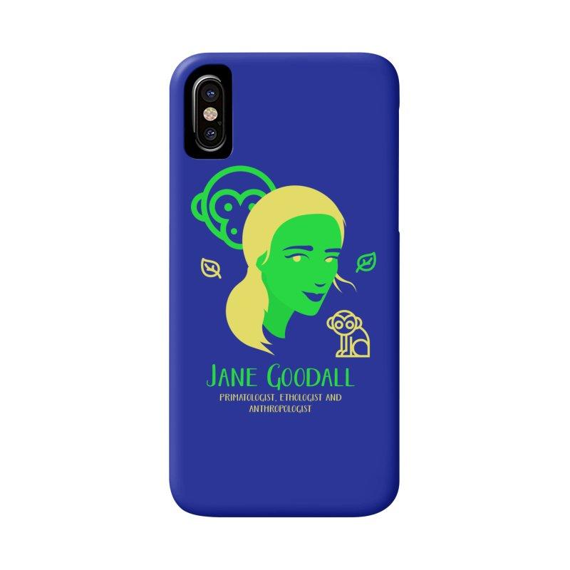 Jane Goodall Accessories Phone Case by Jana Artist Shop