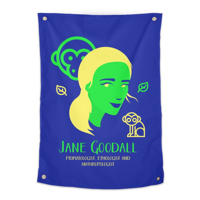 Jane Goodall Home Tapestry by Jana Artist Shop