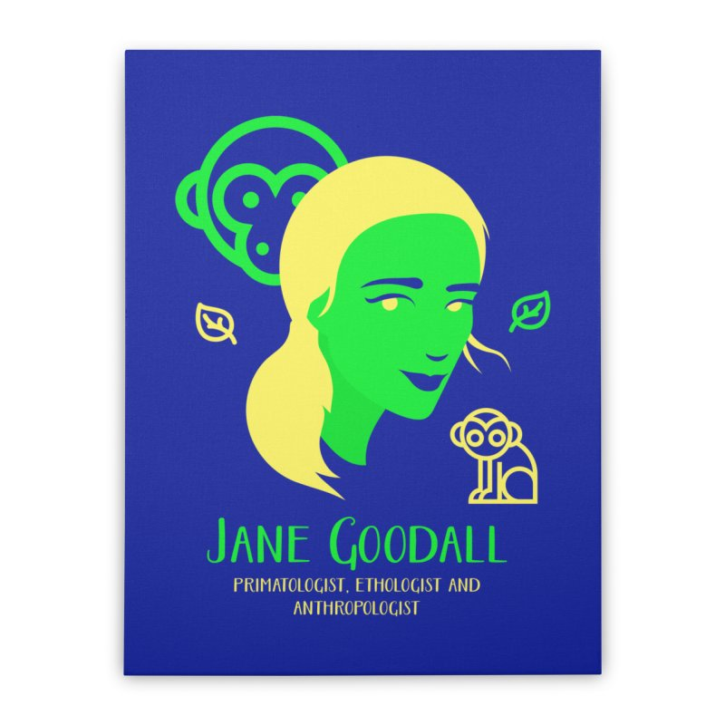 Jane Goodall Home Stretched Canvas by Jana Artist Shop