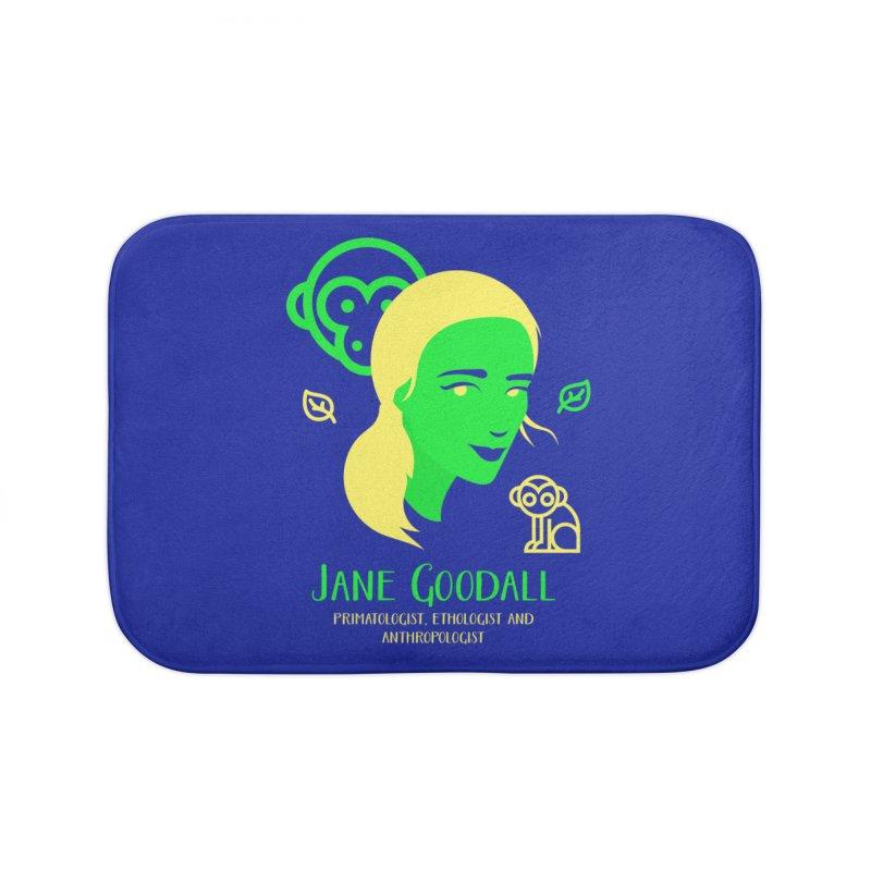 Jane Goodall Home Bath Mat by Jana Artist Shop