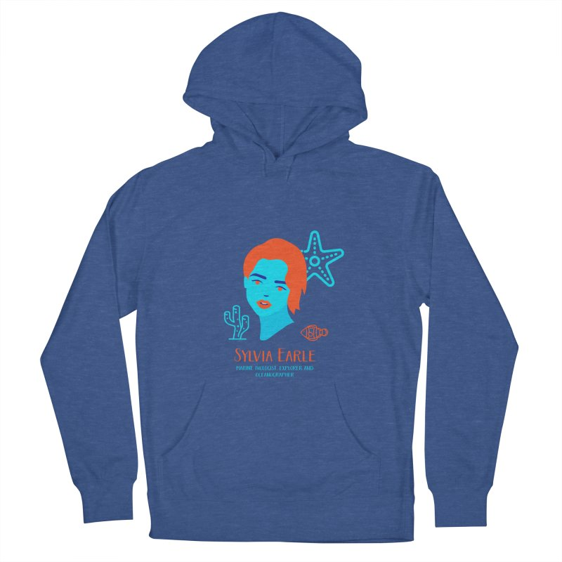 Sylvia Earle Men's French Terry Pullover Hoody by Jana Artist Shop