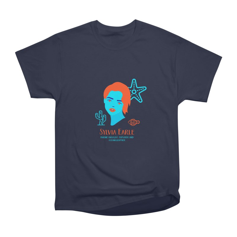 Sylvia Earle Men's Heavyweight T-Shirt by Jana Artist Shop