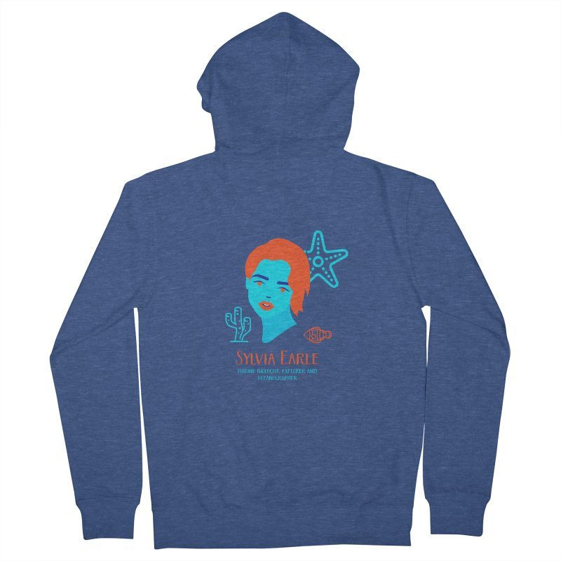 Sylvia Earle Women's French Terry Zip-Up Hoody by Jana Artist Shop