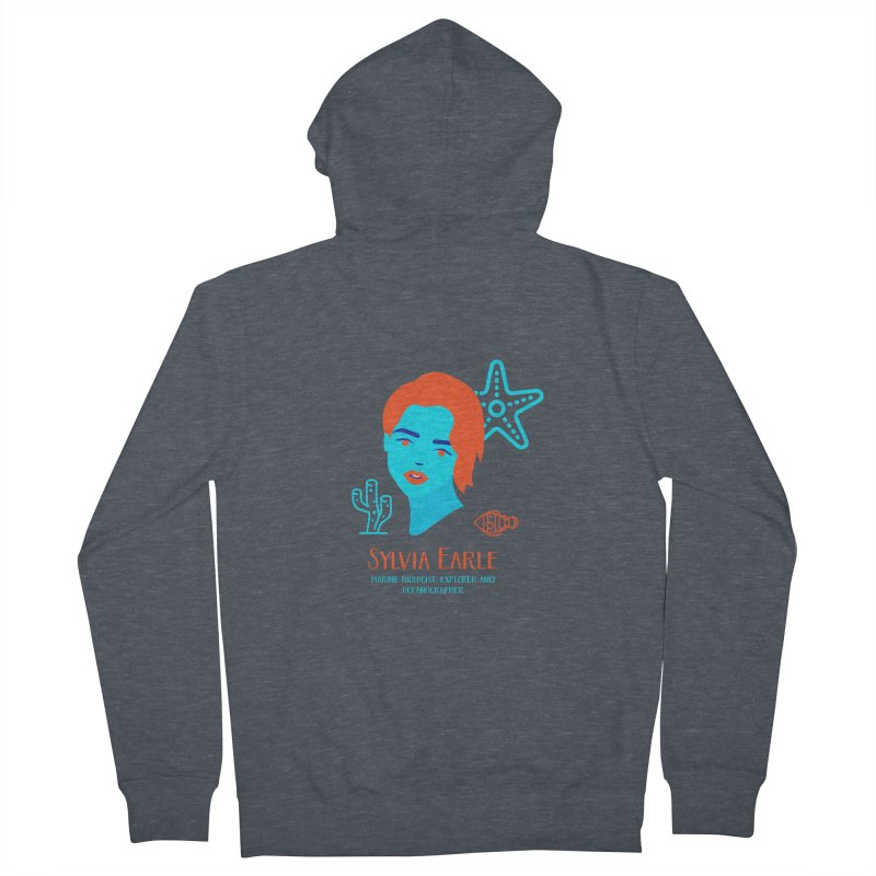 Sylvia Earle Women's Zip-Up Hoody by Jana Artist Shop