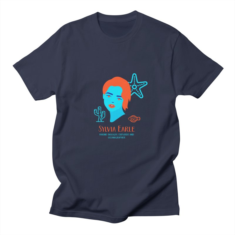 Sylvia Earle Men's Regular T-Shirt by Jana Artist Shop