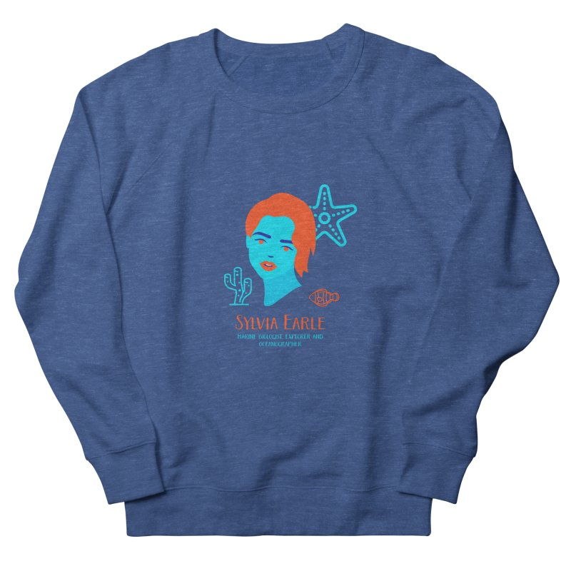 Sylvia Earle Men's French Terry Sweatshirt by Jana Artist Shop