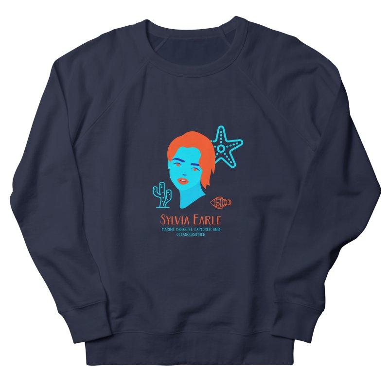 Sylvia Earle Men's French Terry Sweatshirt by Jana Artist Shop