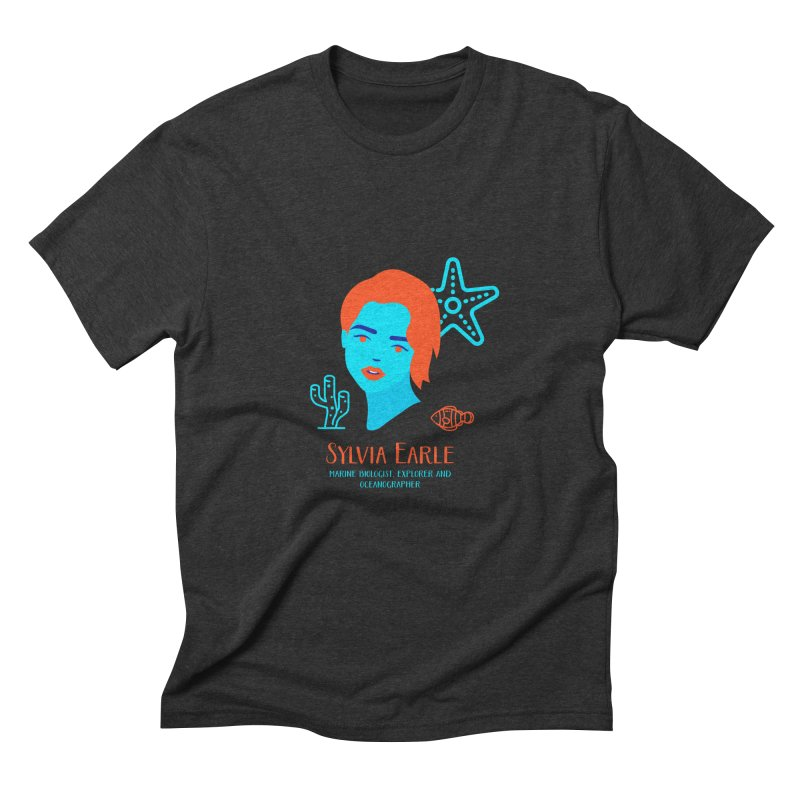 Sylvia Earle Men's Triblend T-Shirt by Jana Artist Shop