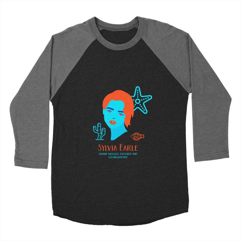 Sylvia Earle Women's Baseball Triblend T-Shirt by Jana Artist Shop