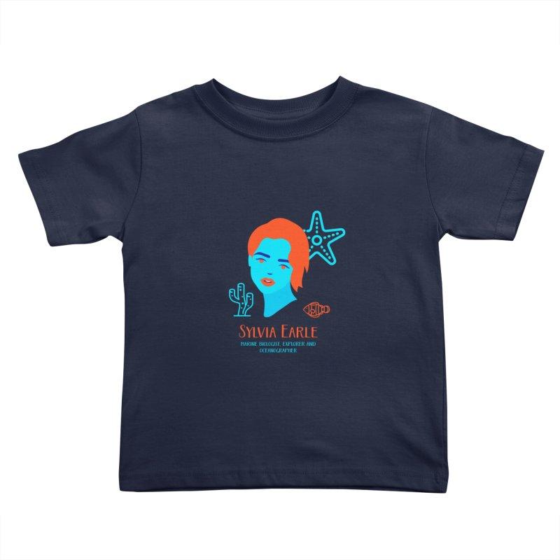 Sylvia Earle Kids Toddler T-Shirt by Jana Artist Shop