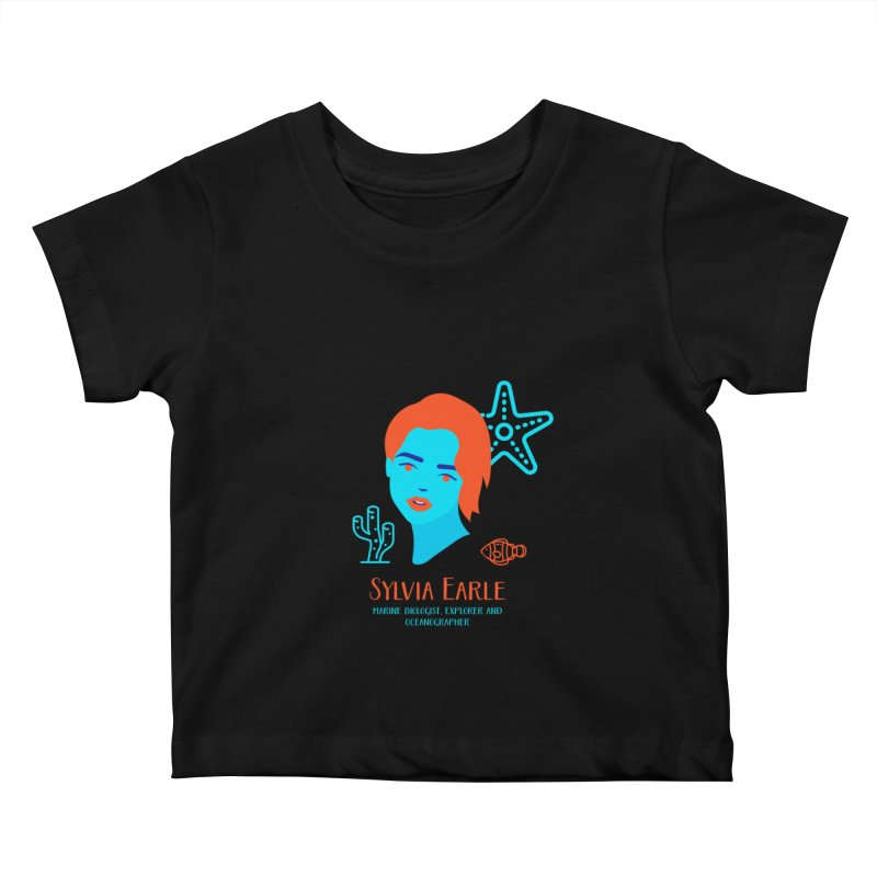 Sylvia Earle Kids Baby T-Shirt by Jana Artist Shop