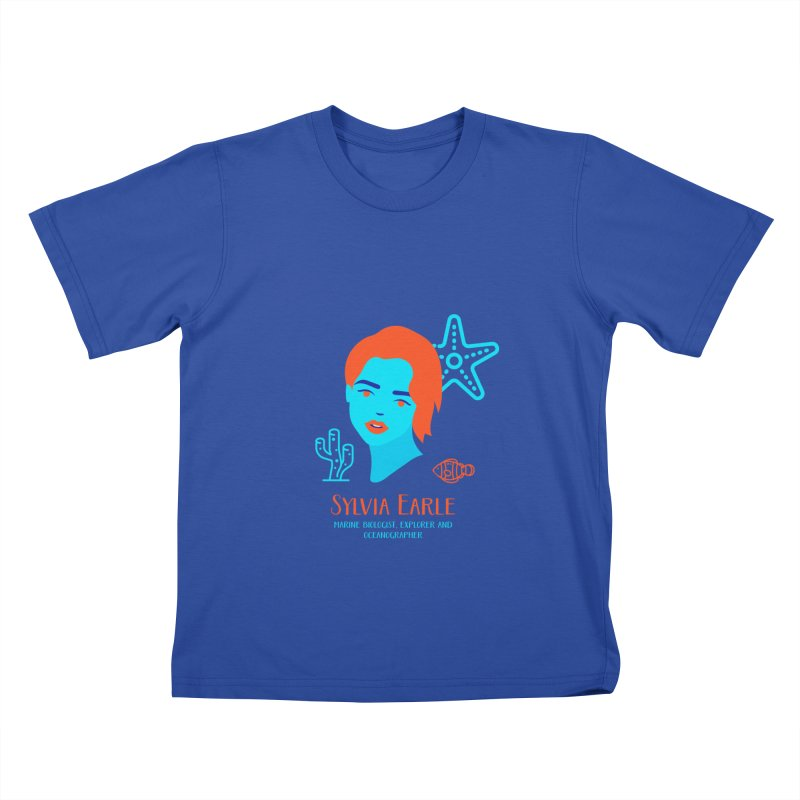 Sylvia Earle Kids T-Shirt by Jana Artist Shop