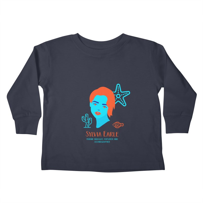 Sylvia Earle Kids Toddler Longsleeve T-Shirt by Jana Artist Shop