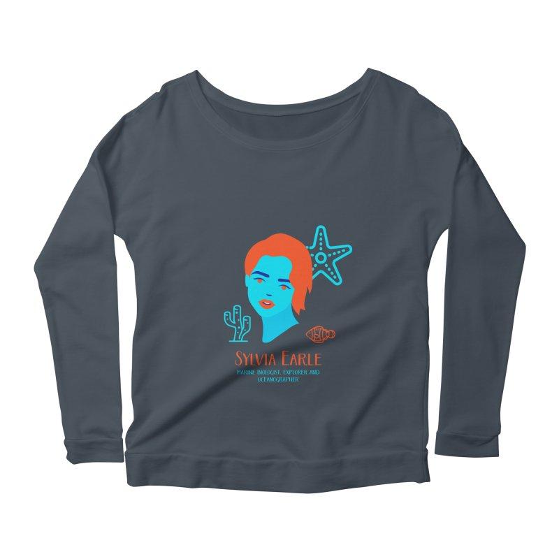 Sylvia Earle Women's Scoop Neck Longsleeve T-Shirt by Jana Artist Shop