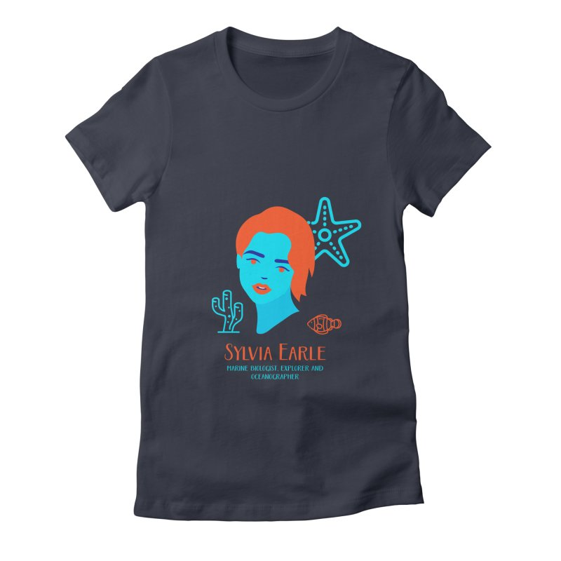 Sylvia Earle Women's Fitted T-Shirt by Jana Artist Shop